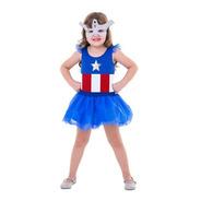 Fantasia Capitão América (feminina) Avengers Oficial Marvel