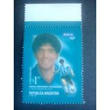 Oca Simple. Sello Postal Diego Armando Maradona. Mint