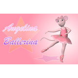 Kit 10 Display Angelina Bailarina Decoração De Mesa Festas