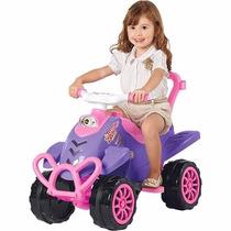 Veículo Passeio C/ Pedal Cross Pink 2 Em 1 Calesita