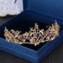 Coroa Tiara Arranjo Cabelo De Noiva Formatura Banhada Ouro