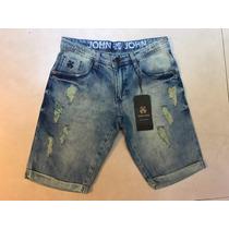 Bermuda Jeans Masculino Da John Pronto Entrega