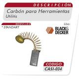 Carbones Para Linea Utilitis Black & Decker Casi 034