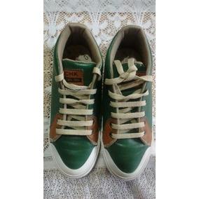 Zapatillas Color Verde Cordones Beige.. Cheeky N*32