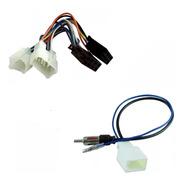 Plug Chicote Som + Adaptador Antena Corolla Hilux Etios Rav4