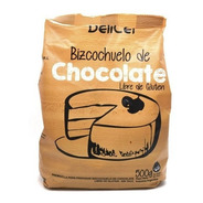Premezcla Bizcochuelo Chocolate. Sin Gluten. 500g. Delicel