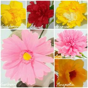 Flor De Papel Crepe 10 Cm