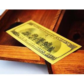 Nota 100 Dólares 24k Ouro Coleção Dolar Americano