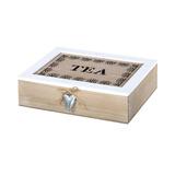 Caja De Madera Para Te Con Divisiones 24x17 Cm Madera