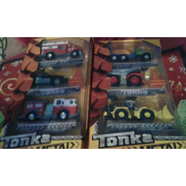 Tonka Set De Tres Carros De Metal Originales Hasbro