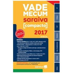 Vade Mecum Compacto Saraiva 2017 2º Semestre Frete Grátis