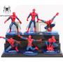 4 Figuras Spiderman Hombre Araña Adorno Torta Pvc Con Base