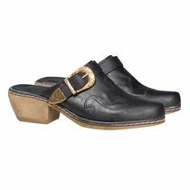 Sueco Plataforma Texana Zapatos Almacen De Cueros Zuecos