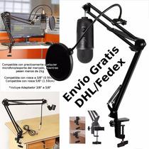 Kit Brazo Articulado + Filtro Anti-pop Para Microfono