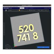 Número 520 741 8 Grabovoi Dinheiro Inesperado Impressão 3d