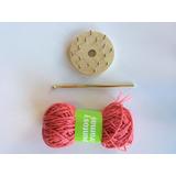 Telar De Flores Con Aguja De Crochet + Ovillo De Regalo