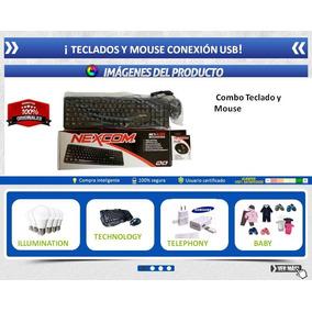 Kit Teclado Mouse Economico Usb Optico Nuevo