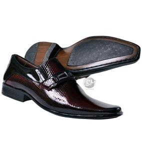 Sapato Social Salto Baixo Masculino Couro De Primeira