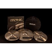 Pratos Odery Bronz Performance B20 Kit 14/16/20 + Bag