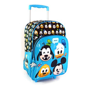 Mochila Original Con Carrito Disney Emoji Wabro 40x30x12 Cms