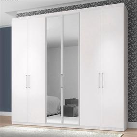 Armário Bartira Maceió Com 6 Portas E Espelho - Branco