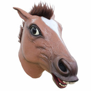 Máscara De Látex Brown Horse Caballo Divertida Animales