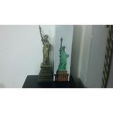 Figura De Colección Estatua De La Libertad Metálica