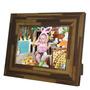 Porta-retrato Rustic Teca - 15x21 - Em Madeira - 25x19,5 Cm