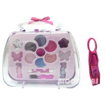 Kit Maleta Maquiagem Infantil + Lip Gloss Ruby