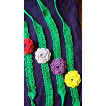 Lote De Vinchas Tejidas A Crochet Emprendimento Pañaleras