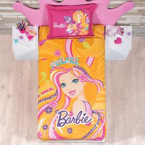 Juego De Sabana Barbie Cabello Magico Individual