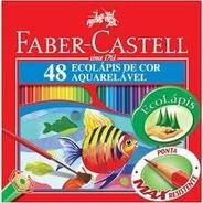 Lápis De Cor Faber 48 Cores Aquarelável