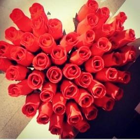 Lote De 50 Rosas De Madeira Para Lembrança De Formatura