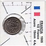 Moneda Del Mundo Francia 1/2 Franco 1965 F5