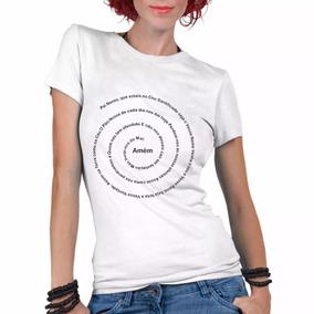 Camiseta Gospel Oração Pai Nosso Feminina Blusa T-shirt
