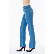 Jeans Scandia Cintura Alta Recto Tallas Extras 3082