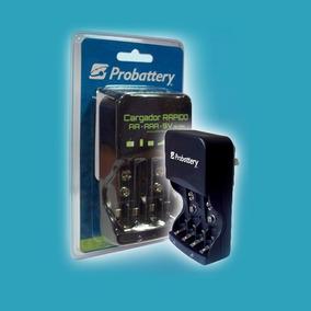 Cargador Rapido Probattery 4 Pilas Aa, Aaa , Bateria 9 V