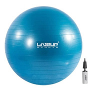 Pelota Gimnasio Bobath Pilates Yoga 55 Cm Con Bomba Azul