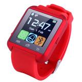 Bluetooth Smart Muñeca Reloj Fr Samsung Android... (red)
