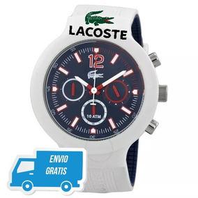 Reloj Lacoste Caballero Blanco F/ Azul Lc.201.0705