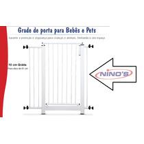 Grade De Porta Ferro - Bebês E Pets+ Extensor De 10cm Grátis