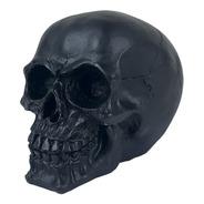 Crânio Caveira Esqueleto Black Skull Preto Decorativo