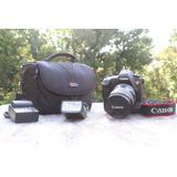 Canon 6d, Super Lente , 2 Baterias, Flash, Cargador, Estuche
