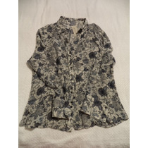 Hermosa Blusa De Vestir Ann Klein Dama L Grande Etiquetada