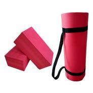 Tapete Colchonete Ginástica Yoga Fitness + 2 Blocos De Eva