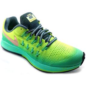 Tenis Nike Zoom Pegasus 33 Shield Verdes Correr Running