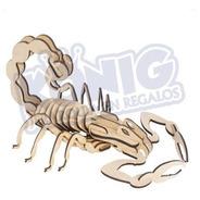 Rompecabezas 3d, Figura Escorpión Armable, Coleccionables