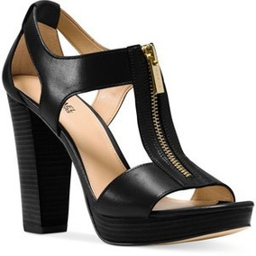 Zapatos Michael Kors Berkley Sandal De Piel Negros Original