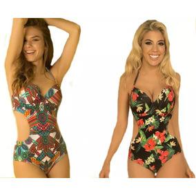 Trikini Taza Soft Malla Mujer Yamiel 2211 Verano
