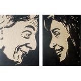 Nestor Y Cristina Kirchner - Cuadros De Madera Tallados